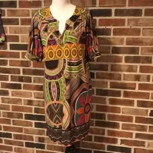 Tiana B African print dress size small